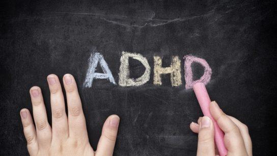 ADHD writting in chalk