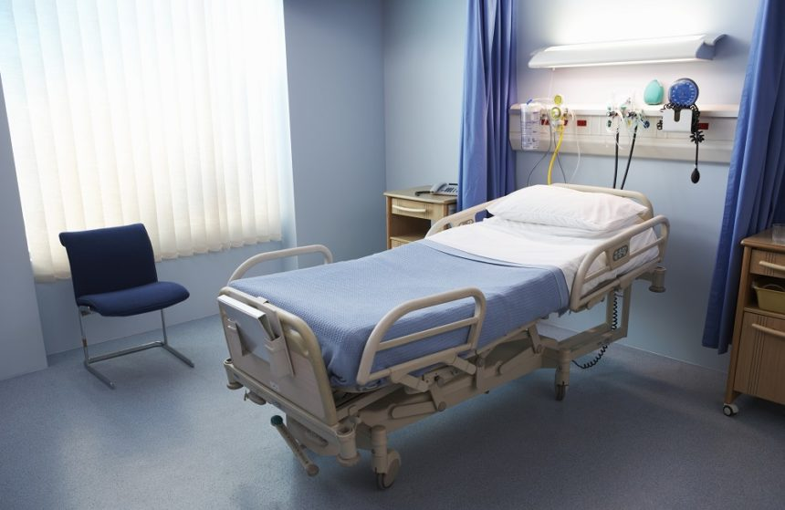 empty hospital bed