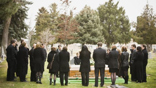funeral outside