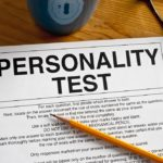 personality test and a pencil