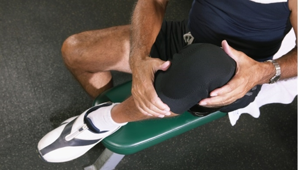 Knee extensions help strengthen knees and helps with symptoms of arthritis by strengthening muscles in the thigh. You will need ankle weights for this exercise. Sit all the way back in a chair, point toes forward and flex foot and slowly lift your leg and count for a few seconds. Alternate legs and complete 10 times for each leg, two times.