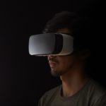 man with virtual reality goggles on