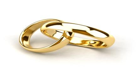 Wedding rings, marriage