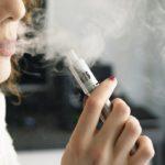 Woman smoking E-cig