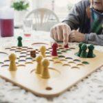 older people playing ludo