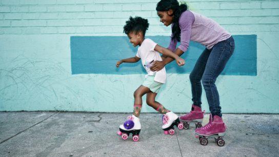 child roller skating