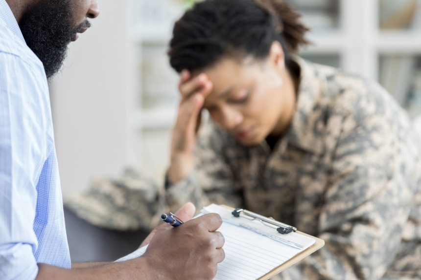 soldier in therapy