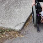 young child in wheelchair
