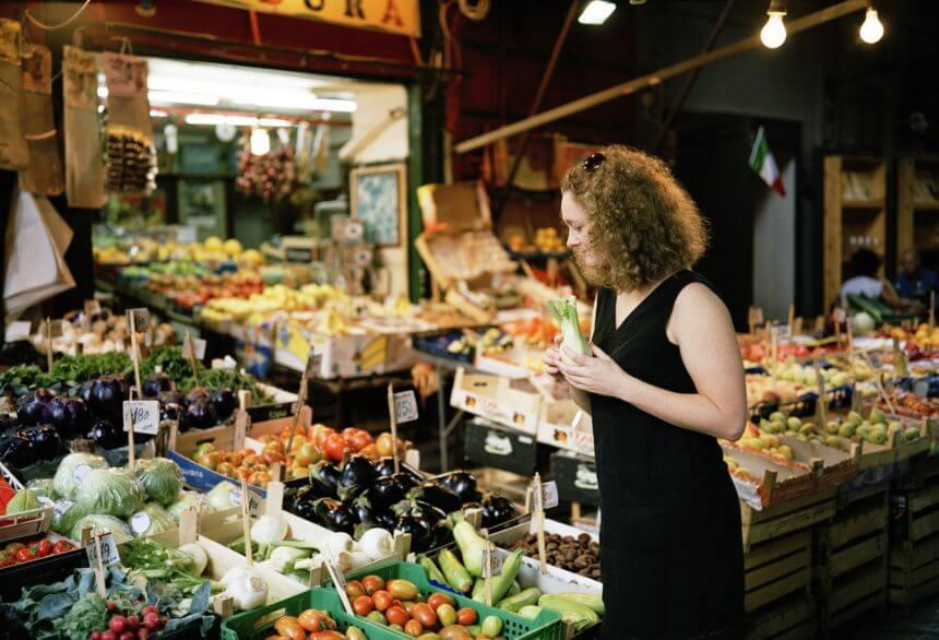 Fresh produce in market