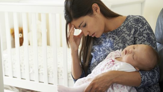 Postpartum depression with young mother