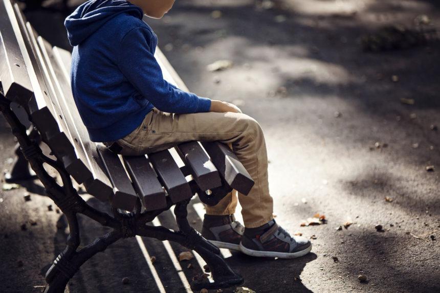 sad boy on bench, depressed, abuse