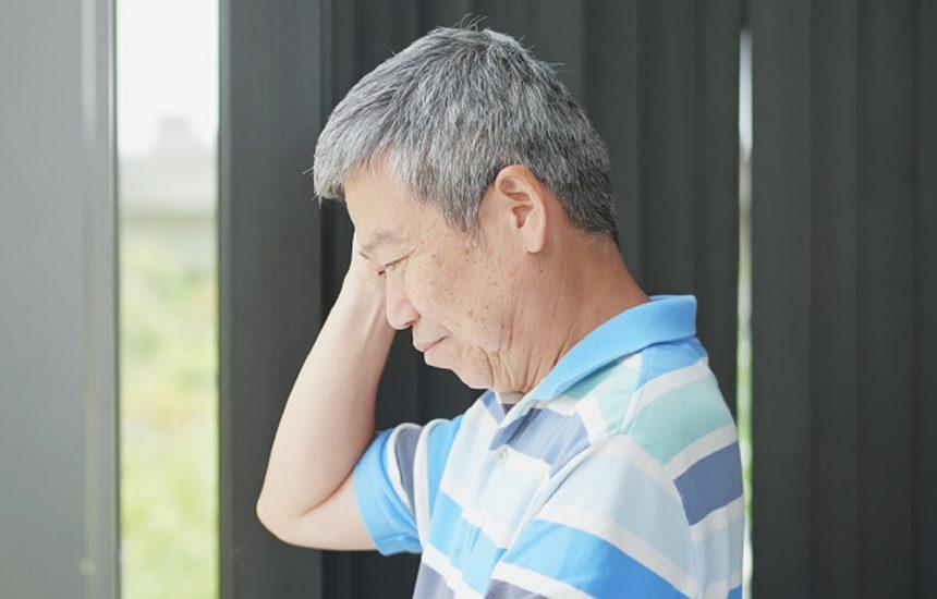 older man thinking