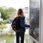 girl leaving home