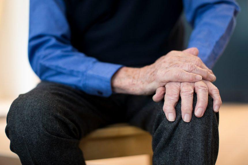elderly man, parkinson disease